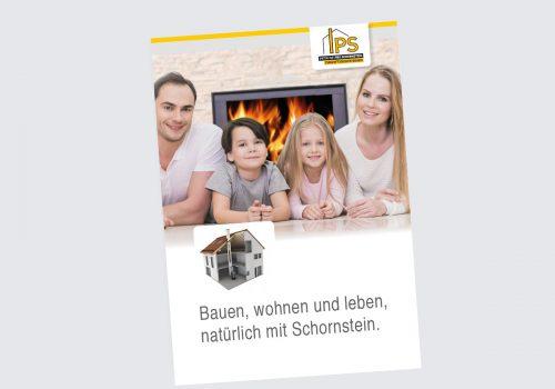 Titelbild Broschüre Bauen, wohnen und leben, natürlich Schornstein
