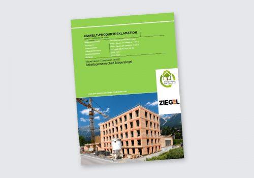 Titelbild EDP Umweltkdeklaration gefüllte Ziegel